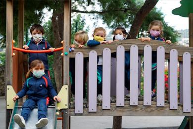 Tobogan del parque de infantil